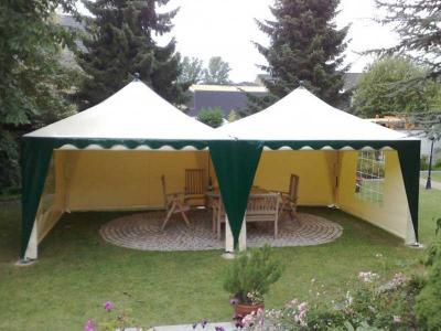 Schall Pavillon | creme-grün