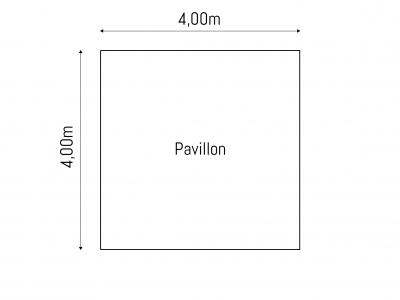 Grundriss 4 x 4 m