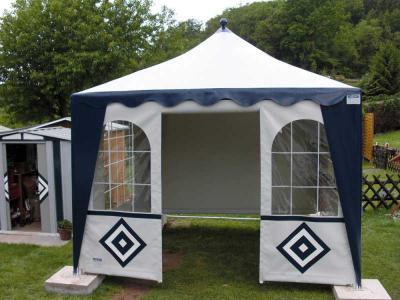 Schall Pavillon | blau-weiß